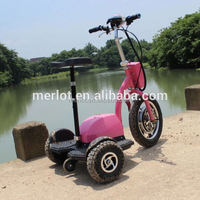 New design three wheeler standing up electric motorcycle with big front tire