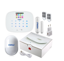 Kerui G19 IOS Android play APP store support 20 RFID cards GSM wireless intelligent security alarm system