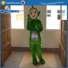 Green teletubby funny popular cartoon character high quality custom mascot costume