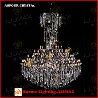 Karme lighting large crystal chandelier for hotels #6688-79