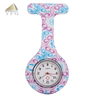 Wholesale custom silicone medical nurses fob watch,waterproof pocket watch for nurse job