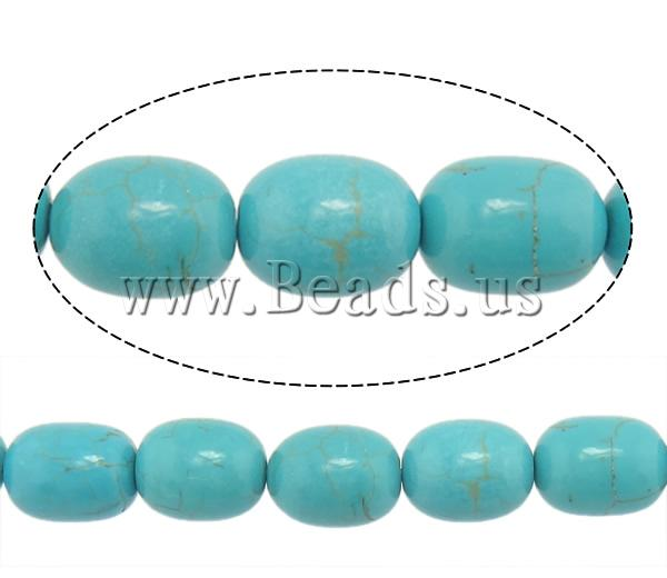 Free shipping!!!Turquoise Beads,Jewelry Fashion, Natural Turquoise, Oval, blue, 17x13mm, Hole:Approx 1mm