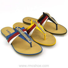 RMC diamond rainbow lady flat sandals and slippers