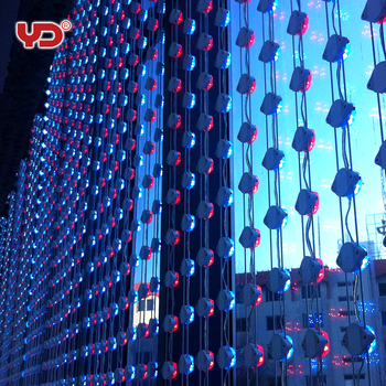 YD ip68 led transparent mesh screen for outdoor advertising