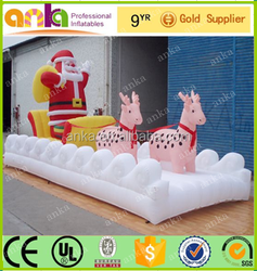 Outdoor giant inflatable christmas train with most popular