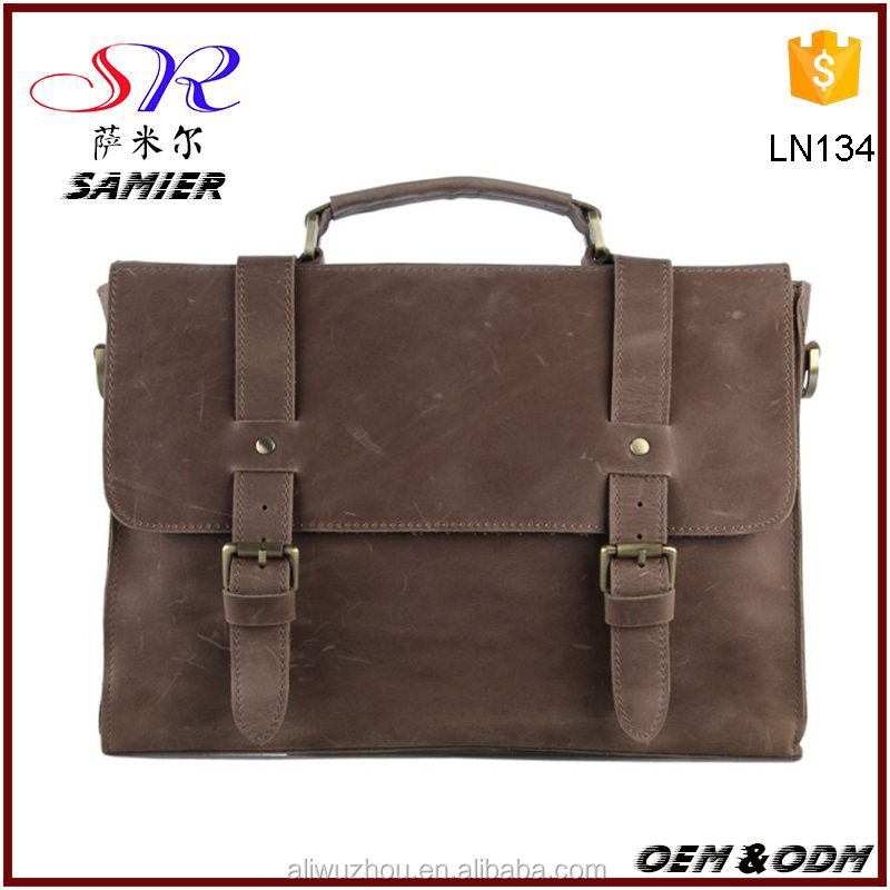 Top layer genuine vintage leather bags vintage Italy style bags shoulder bag messenger handbags for men online shopping