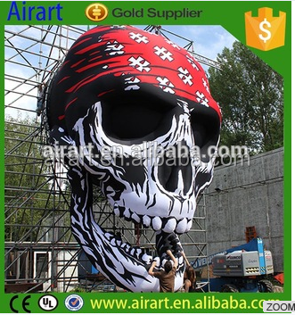 2016 Halloween party decoration inflatable skull head