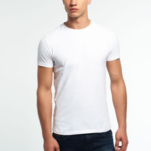 2016 High quality wholesale cotton custom mens plain t shirts with no tags men's t shirt China OEM