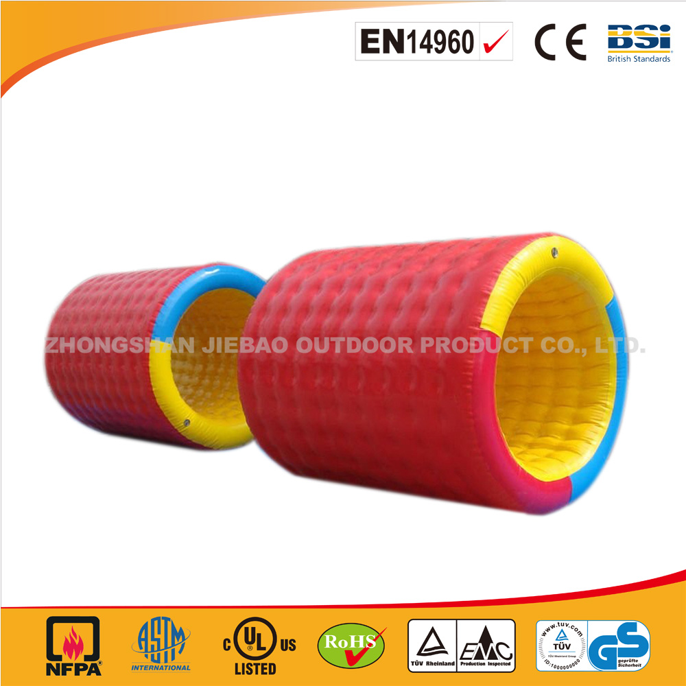 2016 customized colorful inflatable roller/water roller ball/human rolling tube