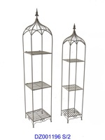 3 Tier Square Metal Tower Plant Stand For Home Decoration