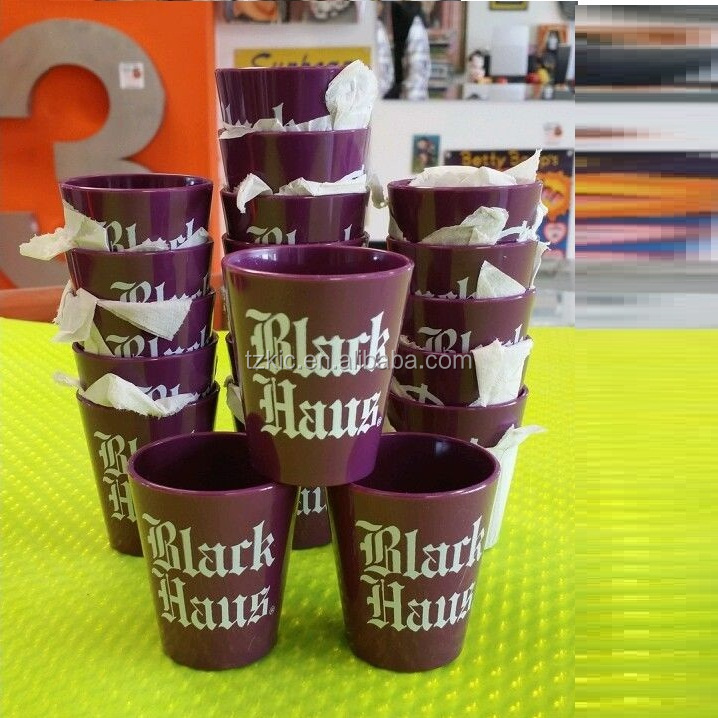 BLACK HAUS MAUVE PLASTIC SHOT GLASS LOT
