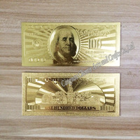 $100 dollar bill 24k gold banknote accept mixed wholesale