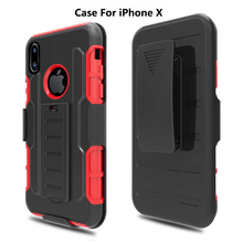 For iPhone x Case, Hard Back Plastic PC+Tpu Armor Hybird Cell Phone Case Cover For iPhone x
