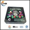 Wholesale Custom Premium poker chip set,100PCS Texas Hold Em Poker Set Complete in Tin Box