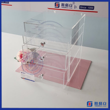 Yageli hot sale clear makeup cosmetc box wirh dividers
