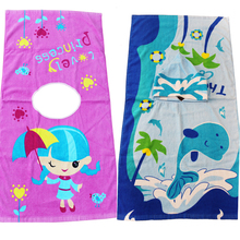 Sandy New Colorful And Fun Printed Kids Hooded Beach Towels