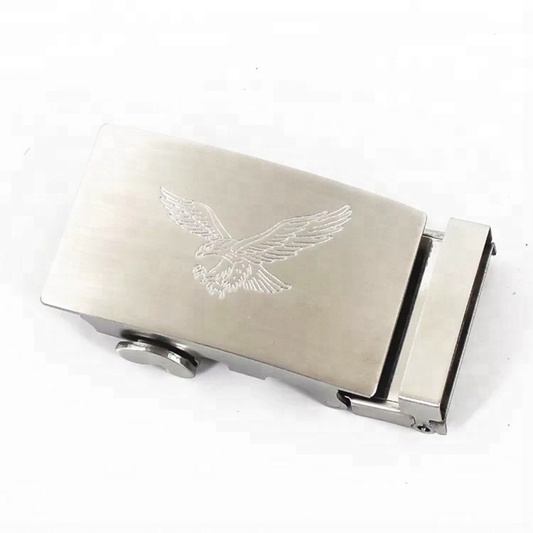 custom logo automatic  stainless steel belt buckles for men