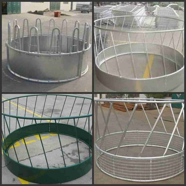 Galvanized powder coated livestock bale cattle horse goat hay feeder