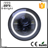 "7"" Car LED Projector Headlight Approved Round Head Light with DRL and Bright White Or Amber Turn Signal for JP"