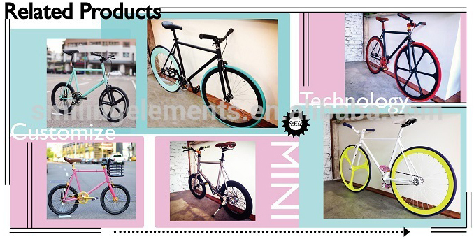 "20"" mini with purple tires fixie bicycle"