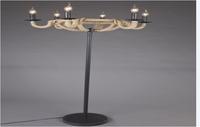 Torchiere floor lamp,floor lighting,arc floor lamp Wrought iron + hemp rope