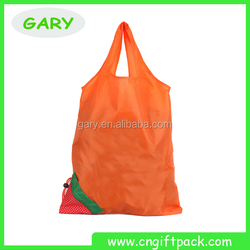 High quality polyester Bag yellow colour folding Polyester bag
