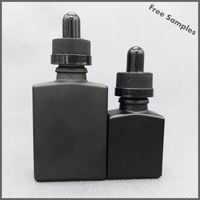 30ml Crystal Rectangle Perfume Spray bottle 1 OZ Clear Square Eliquid Bottle