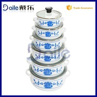 6pcs Best-selling Enamel kitchenware