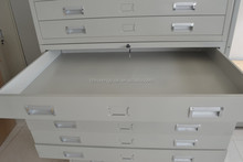 Multi flat drawer cabinet/map storage cabinet metal furniture