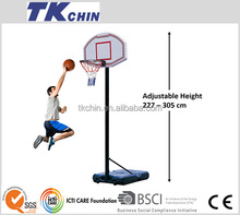 44'' standard outdoor adjustable basketball hoop with steel rim