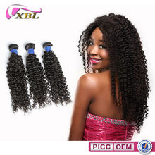 XBL New Arrival Virgin Peruvian Hair Double Layers Afro Kinky Human Hair Weave