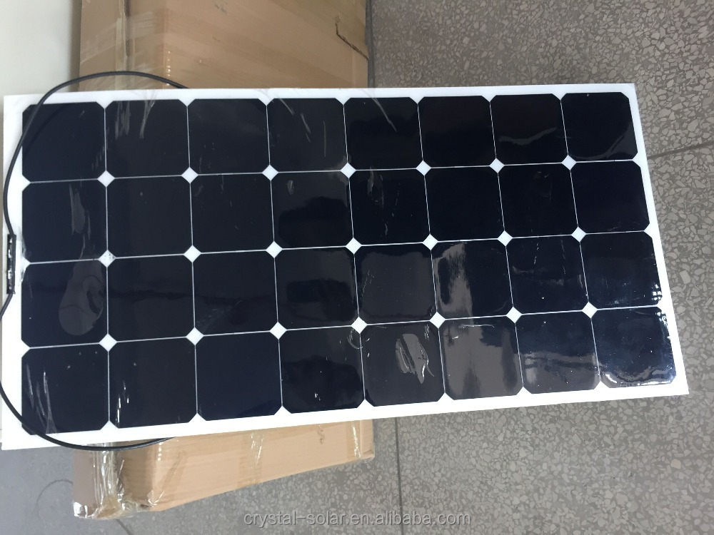 China Factory Offer High Quality Cheap 100W 150 Watt Solar Panel Price Semi Flexible Sunpower Solar Panel For Boat RV Tent Car