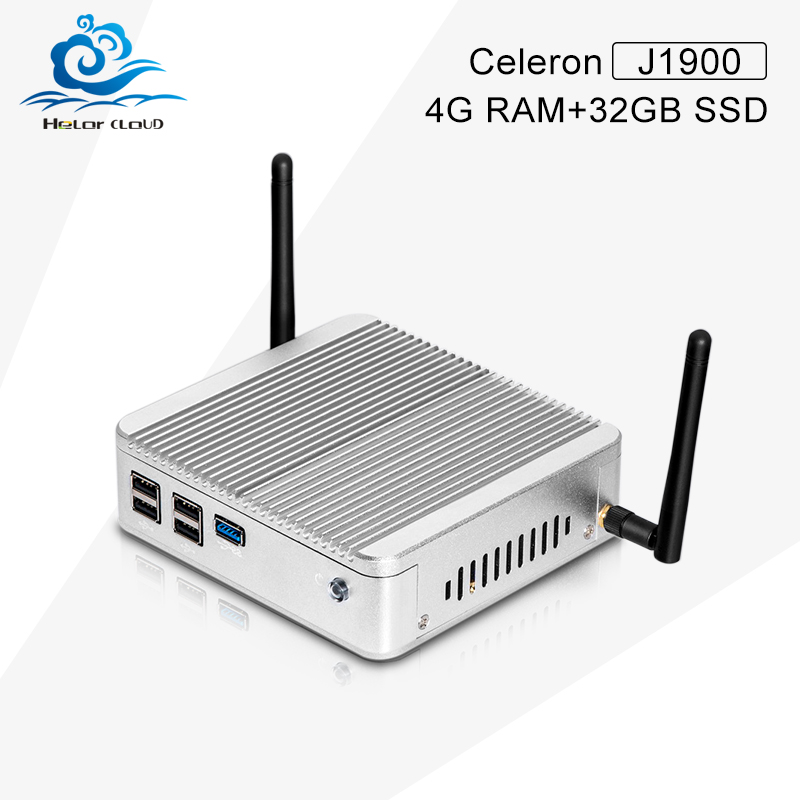 Quad Core TV Box Windows8 Celeron J1900 2.0GHz Celeron 4G+32G SSD USB3.0+Ethernet Port Mini Computador Gamer PC