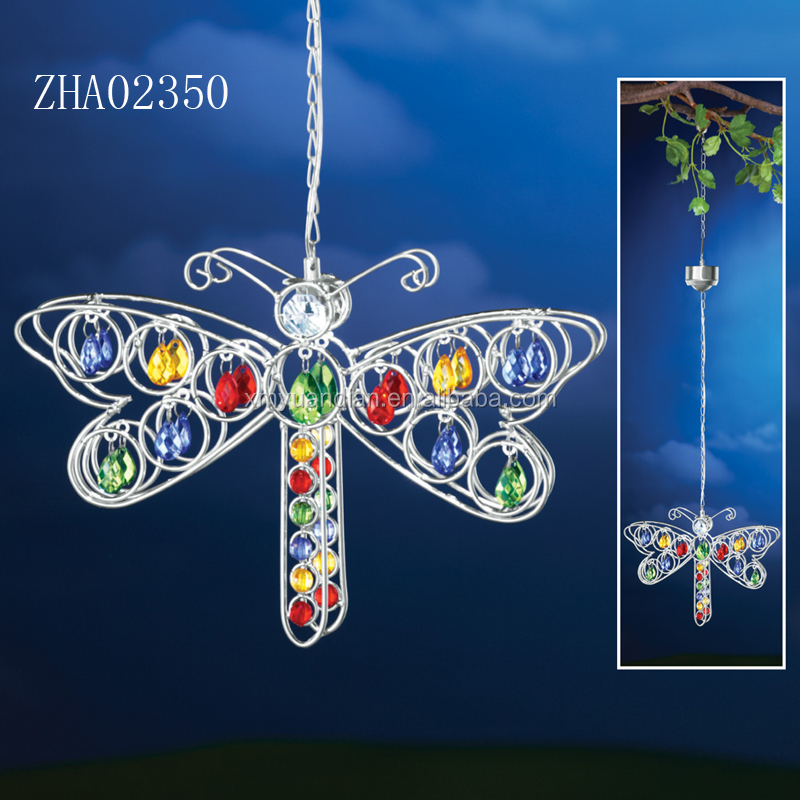 Solar Dragonfly Hanging Yard Decoration