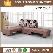 SS7431 l-shaped fabric corner sofa modern new design corner sofa with chaise lounge