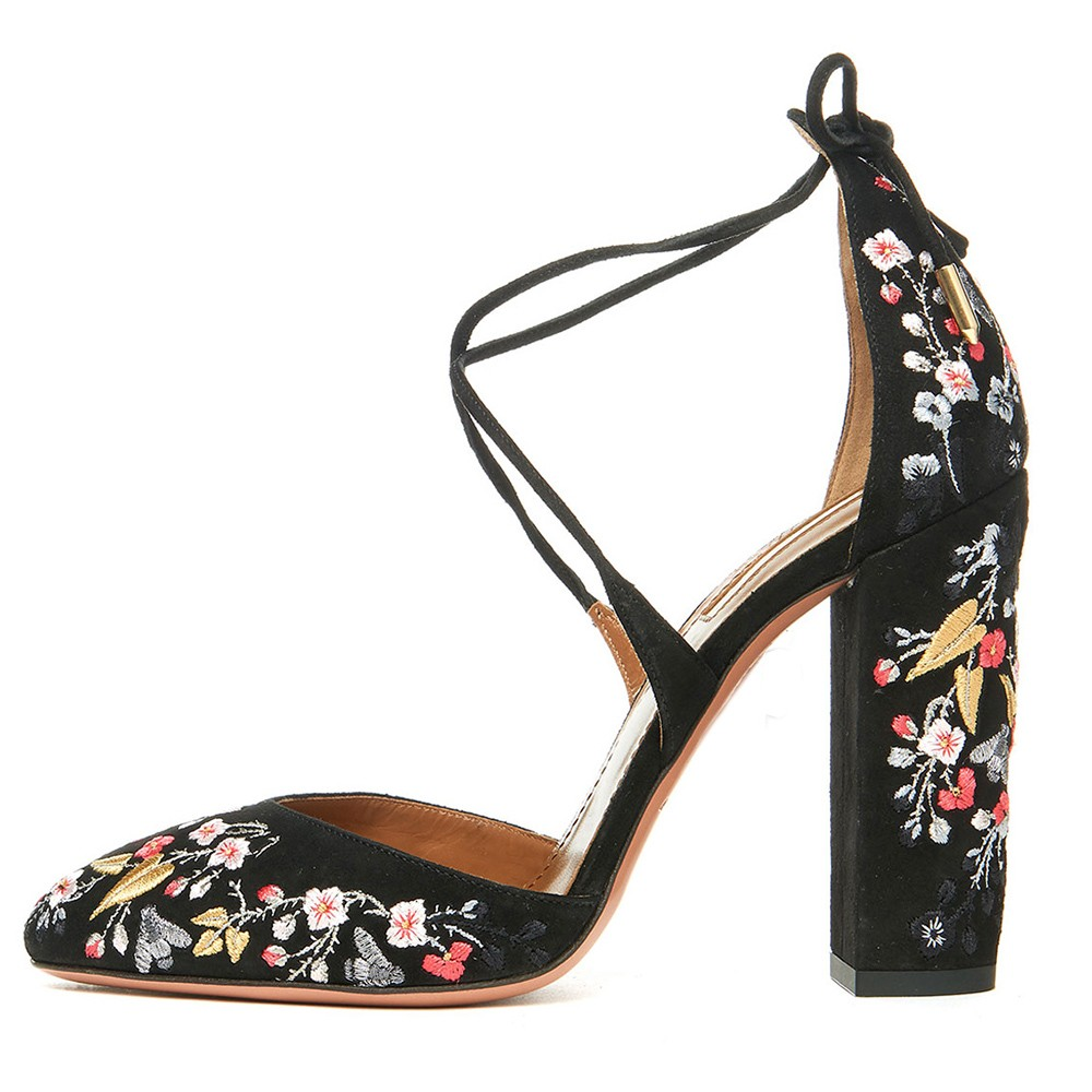 beautifull embroidery women and girls high heel sandals