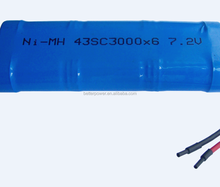 7.2V 43SC3600*6 NIMH rechargeable battery pack