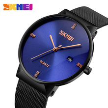 Newest Japanese movement watch men luxury SKMEI 3 atm stainless steel back