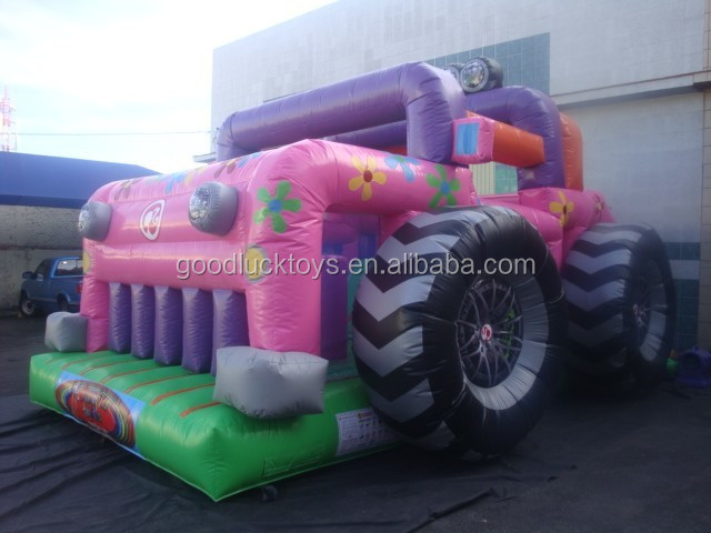 PVC Tarpaulin Giant Inflatable Humvee Bouncer Car Boucy Castle for game