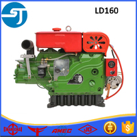 Small boat single cylinder electric start LD160 diesel engine for sale