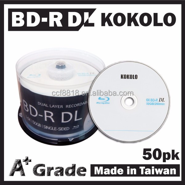 Taiwan A+ blue ray disk 50GB 6X, bd-r taiwan manufacturers, asian products taiwan wholesale
