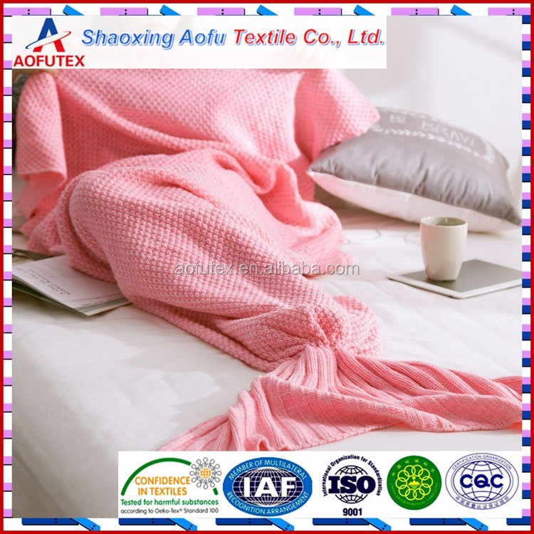 80x180cm best selling mermaid blanket tail Knitted mermaid tail blanket Crochet blanket mermaid tail Kids Throw Bed