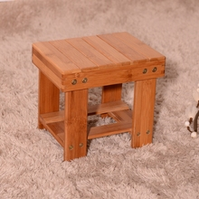 Chinese natural color kids/adults bamboo step stool on wholesale