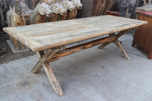 Antique Recycle pine wood solid wood rustic furniture dining table