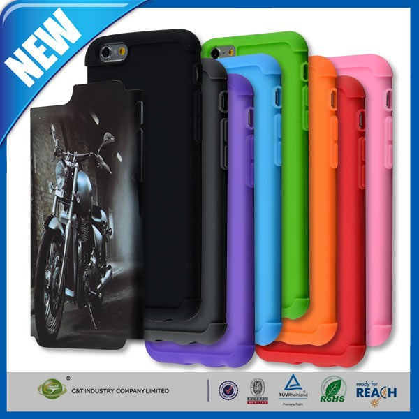 C&T 3 in 1 Hybrid Rugged Heavy Duty Combo High Impact Durable Back Case Cover for Apple iphone 6s / 6