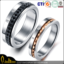 Cheap wholesale free sample high quality custom 316l stainless steel ring jewelry
