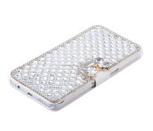 Luxury Bling BowKnot Crystal Diamond Wallet Flip Case Cover For iphone 8,for iphone 8 plus,for iphone x