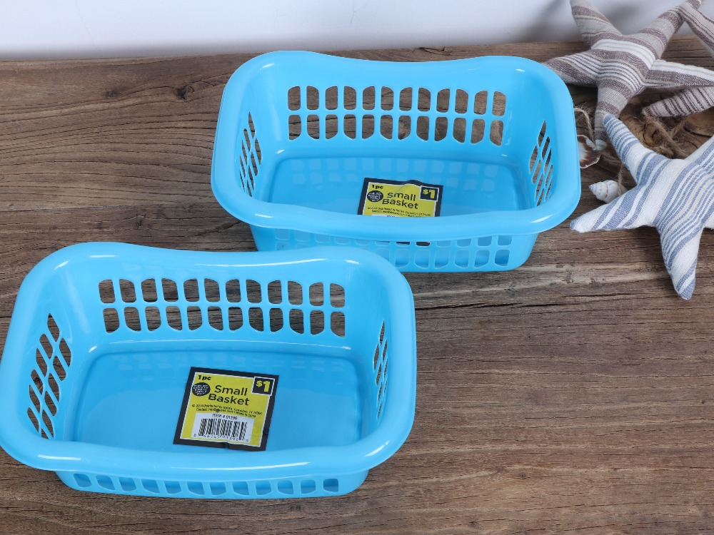 High quality small plastic storage basket desk organizer basket