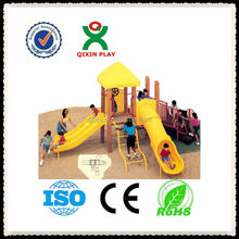 Korean Imported Material backyard play sets/play equipment for schools/climber and slide children/QX-11050D