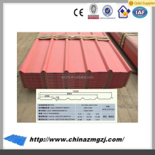 low cost environment friendly aluminium roofing sheet,corrugated,trapezoid metal roof sheet